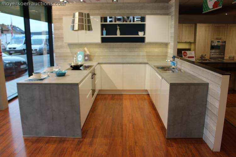1 U-shaped kitchen MODENA, color: white high gl... on kitchens without upper cabinets, dining room cabinets, u-shaped outdoor kitchens, breakfast room cabinets, l-shaped corner cabinets, chrome edging trim for cabinets, u-shaped living room furniture, living room cabinets, powder room cabinets, foyer cabinets, l-shaped hinges for cabinets, u-shaped restaurant booths,