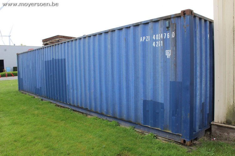 1 sea container 40 feet APZU 403476 0, Note: